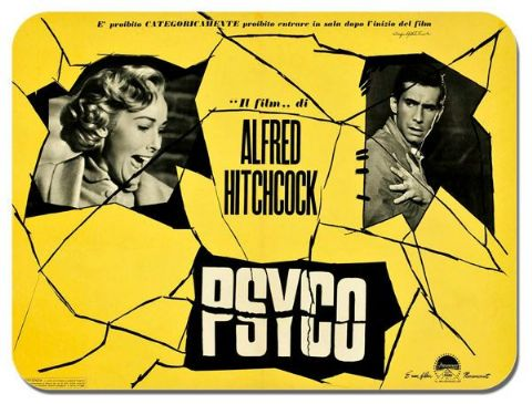 Psycho Movie Mouse Mat D. High Quality Film Poster Mouse Pad. Alfred Hitchcock